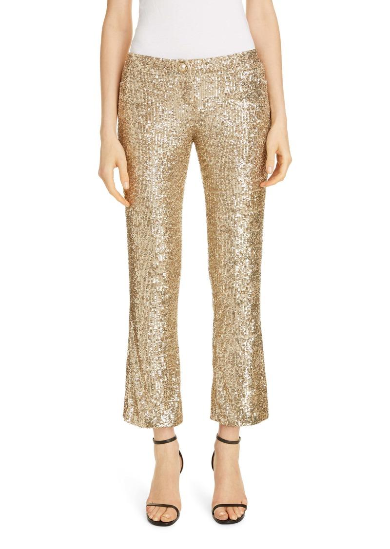 Balmain Sequin Crop Flare Pants