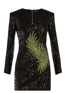 Balmain Sequin-embellished mini dress