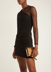 Balmain Sheer-sleeve mini dress