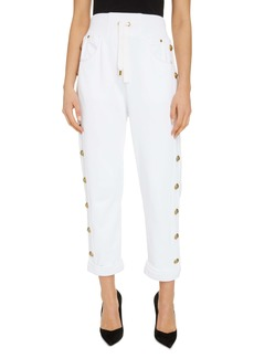 Balmain Side Button Sweatpants