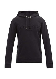 Balmain Side-zip cotton-jersey hooded sweatshirt