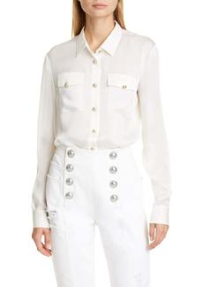 Balmain Silk Charmeuse Shirt