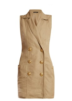 Balmain Sleeveless double-breasted poplin dress