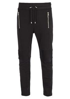 Balmain Slim-fit cotton-jersey track pants