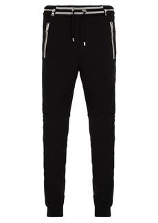 Balmain Slim-leg biker-style track pants