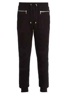Balmain Slim-leg biker track pants