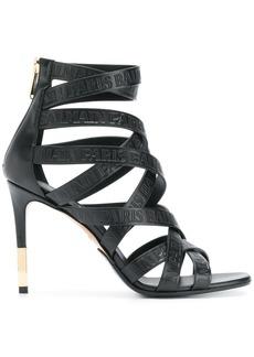 Balmain strappy ankle sandals - Black