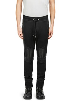 Balmain Stretch Cotton Moto Sweatpants