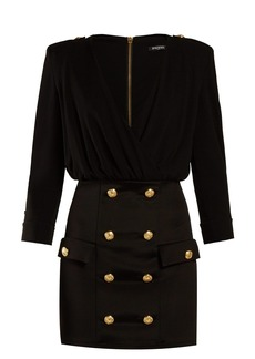 Balmain Double-breasted crepe dress