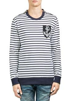Balmain Stripe-Print Cotton Sweatshirt