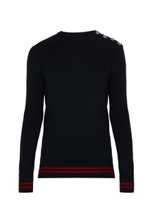 Balmain Striped cashmere jumper