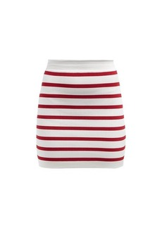 Balmain Striped knitted mini skirt