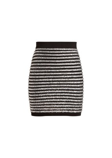 Balmain Striped mid-rise mini skirt