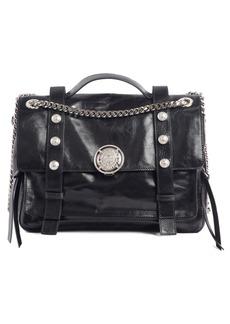 Balmain Studded Calfskin Leather Shoulder Bag