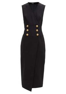 Balmain Tailored buttoned wrap dress