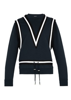 Balmain Taped-band cotton-jersey sweatshirt