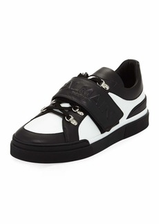 Balmain Tricolor Low-Top Leather Sneaker