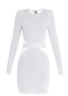 Balmain Tulle-insert mini dress