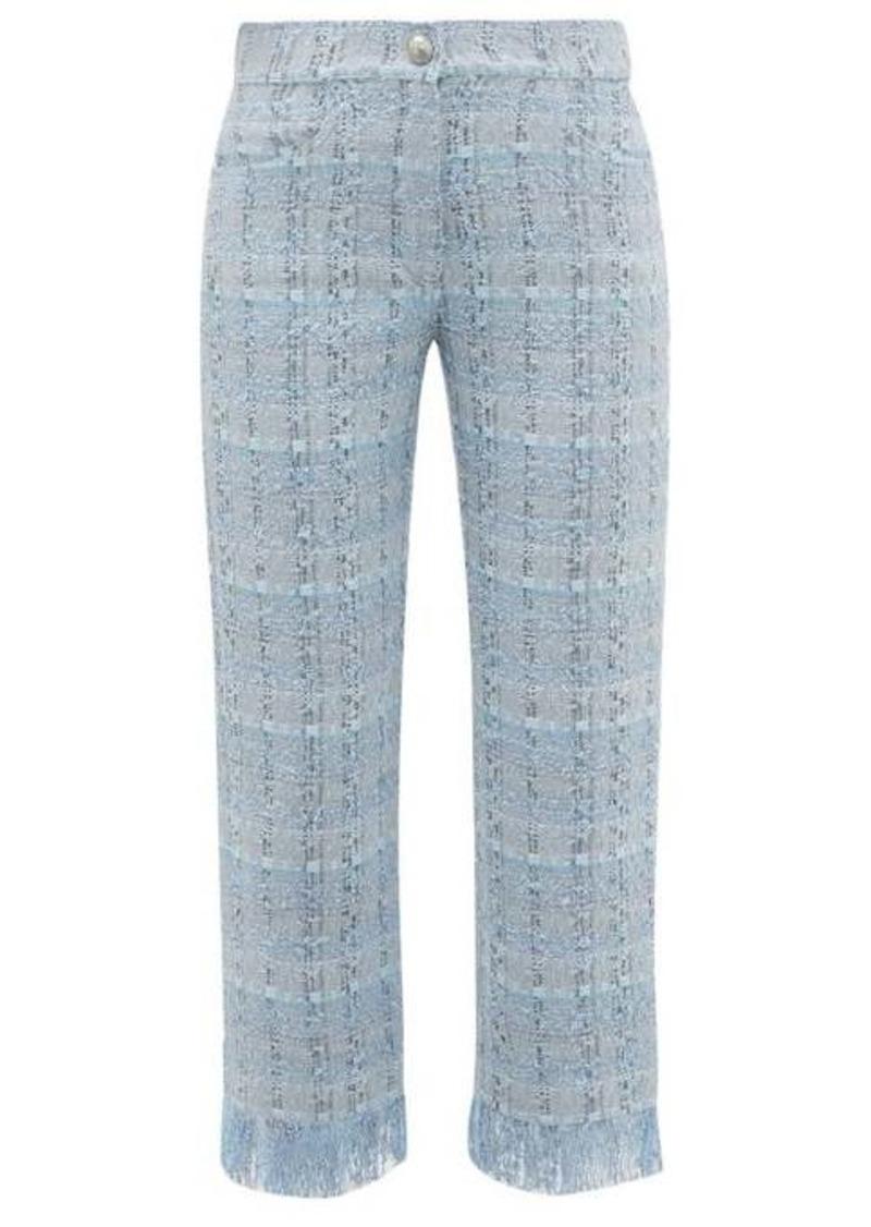 Balmain Tweed straight-leg trousers
