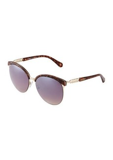 Balmain Two-Tone Cat-Eye Plastic Sunglasses