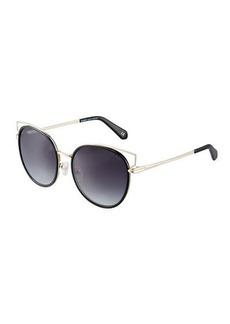 Balmain Two-Tone Cat-Eye Sunglasses