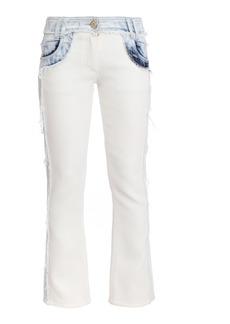 Balmain Two-Tone Rigid Mid-Rise Skinny Jean