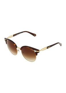 Balmain Two-Tone Round Sunglasses