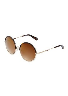 Balmain Two-Tone Round Sunglasses
