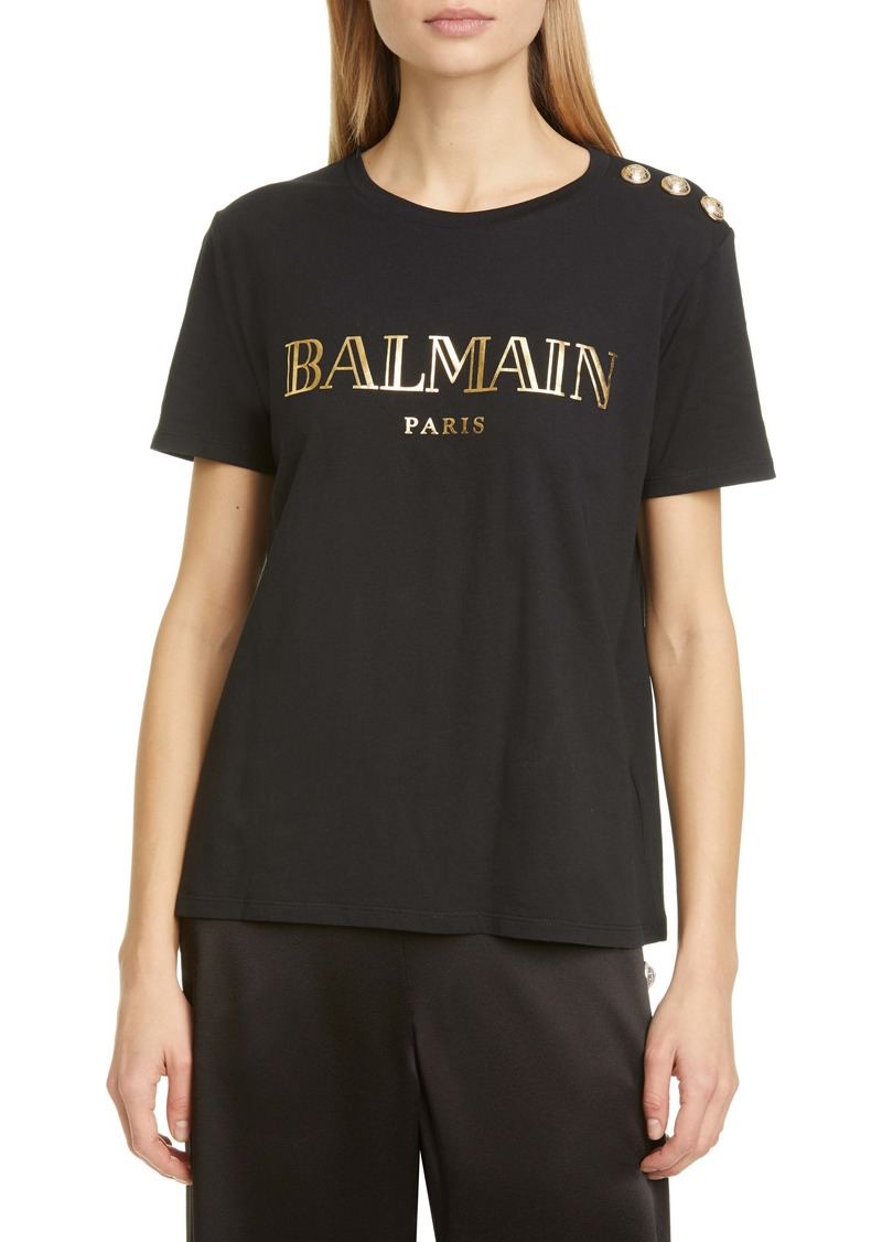 Balmain Vintage Logo Cotton T-Shirt