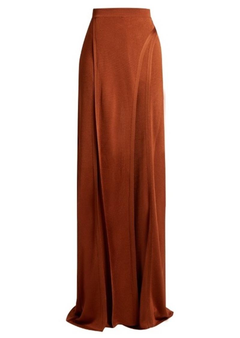 Balmain Wide-leg side-slit knit trousers