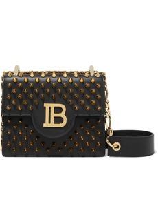 Balmain Woman B Bag 18 Logo-embellished Studded Leather Shoulder Bag Black