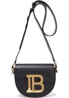 Balmain Woman B Logo-embellished Leather Shoulder Bag Black