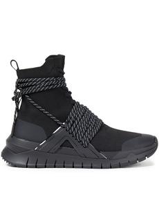 Balmain Woman B Troop Stretch-knit High-top Sneakers Black