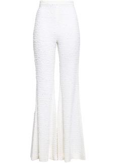Balmain Woman Bouclé-tweed Flared Pants Off-white