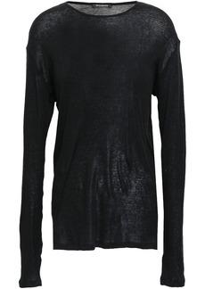 Balmain Woman Cotton-jersey Top Black