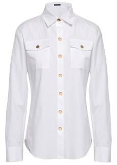 Balmain Woman Cotton-poplin Shirt White