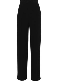 Balmain Woman Crepe Straight-leg Pants Black