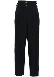 Balmain Woman Crepe Wide-leg Pants Black