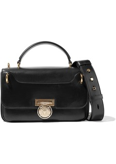 Balmain Woman Leather Shoulder Bag Black
