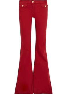Balmain Woman Low-rise Flared Jeans Red