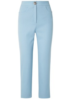 Balmain Woman Wool-twill Straight-leg Pants Sky Blue