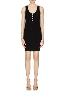 Balmain Women's Button-Embellished Sleeveless Dress