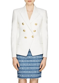 Balmain Women's Cotton Double-Breasted Blazer