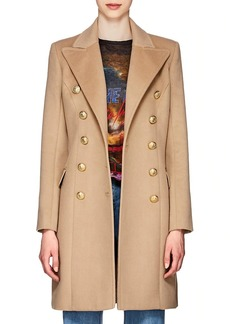 Balmain Women's Wool-Cashmere Double-Breasted Coat
