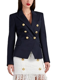 Balmain Women's Wool Gabardine Double-Breasted Blazer
