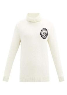 Balmain Zardozi-embroidered roll-neck wool-blend sweater