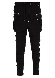 Balmain Zipped cotton track pants