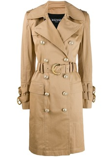 Balmain belted trench coat