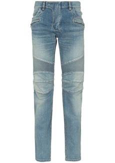 Balmain Biker cotton-blend jeans
