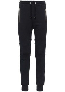 Balmain biker cotton sweat pants